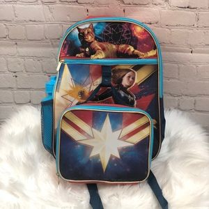 NWT captain marvel backpack & lunch box etc
